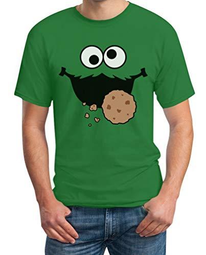 Carnaval & carnaval koekjesmonster kruimels kostuum heren T-shirt