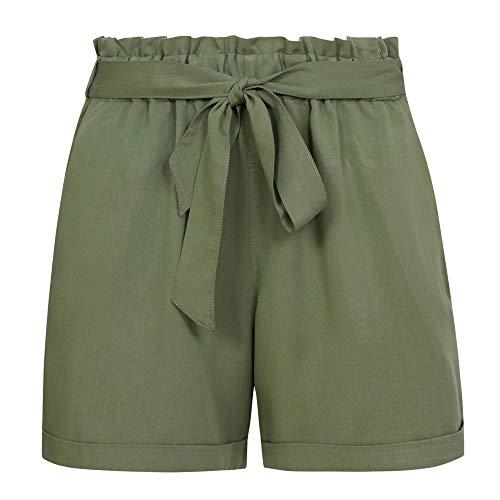 TOM TAILOR Denim Damen Freizeithose Shorts, 21586-dull Moss Green, M