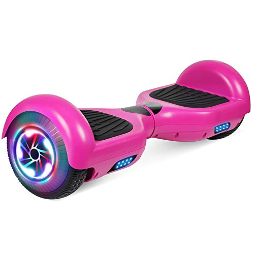 """FLYING-ANT Hoverboards 6.5"""" Two-Wheel Self Balancing Electric Scooter with LED Light Flash Lights Wheels with UL 2272 Certified and Carry Bag(red)"""