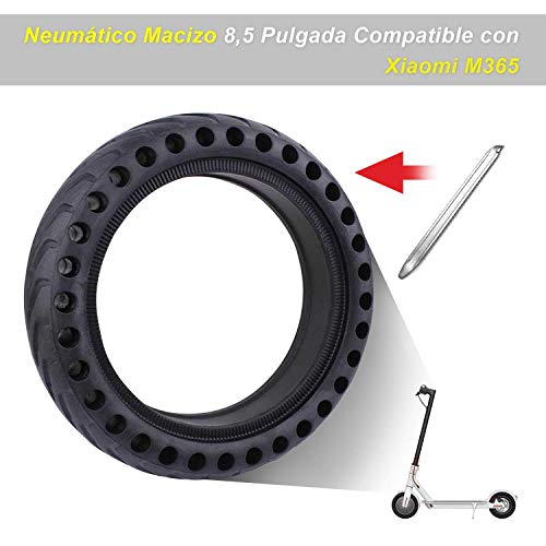 """Zamelux Repuesto Neumático Antipinchazo 8,5"""" Neumático Macizo Honeycomb para Patinete Eléctrico Compatible con Xiaomi M365"""