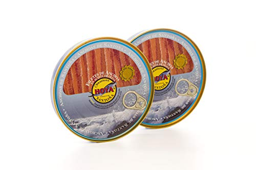 Hoya Santoña Anchoas del Cantábrico - Pack 2 latas de 170g/29 filetes...