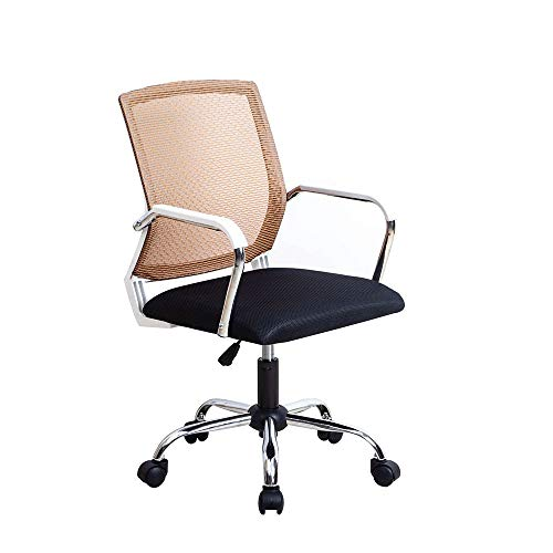 JCCOZ-URG Computer Office Chair riunione for discutere Mesh Ascensore Rotating Chair semplice gioco Torna Chair, Black/Red JCCOZ-URG (Color : E)