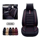 OASIS AUTO OS-001 Leather Car Seat Covers, Faux Leatherette Automotive...