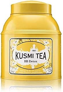 Kusmi Tea - BB Detox - Natural Green Tea with Yerba Mate, Rooibos, Guarana, Dandelion Infusion with a Hint of Grapefruit - 17.6oz of Natural Premium Loose Leaf Green Tea in Metal Tin (200 Servings)