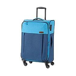Travelite Leichtes lässiges Surferlook Trolley Koffer 67 cm, 59 L, Marine/Blau