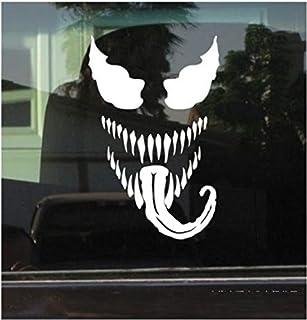 2 Stück, Auto Aufkleber und Abziehbilder White Venom Dekoration Wand dekorative reflektierende Körper Aufkleber Vinyl Aufkleber Abziehbilder Lustige Auto Fenster Aufkleber Autoaufkleber Grafik