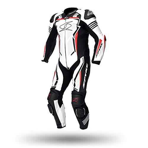 Spyke Tuta moto intera ASSEN 2.0 WHITE RED BLACK taglia IT 52