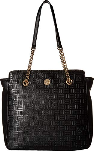 Anne Klein Emboss Lion Shopper Black One Size
