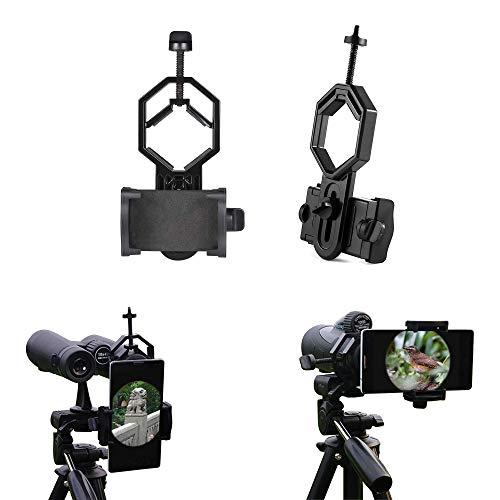 Universal Handy Adapter Mount, Kompatibel Fernglas Monokular Spektiv Teleskop, Universal Handy Adapter Halterung für Fernglas Monokulare Spektiv Teleskop für iPhone Sony Samsung Moto