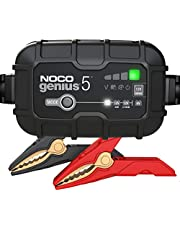 NOCO GENIUS5UK, 5-Amp Fully-Automatic Smart Charger, 6V And 12V Battery Charging Units, Battery Maintainer, Trickle Charger, And Battery Desulfator With Temperature Compensation