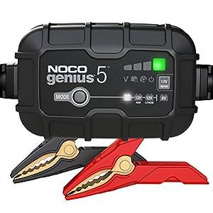 NOCO GENIUS5EU, Inteligente automático de 5A, Cargador 6V y 12V, mantenedor desulfatador de batería con compensación de Temperatura