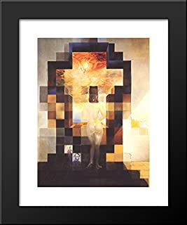 Gala Contemplating the Mediterranean Sea Which at Eighteen Metres Becomes the Portrait of Abraham Lincoln 20x24 Framed Art Print by Salvador Dali
