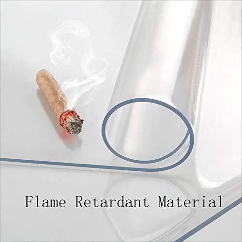 Stoelmatten GUORRUI vloerbeschermingsmat polycarbonaat transparant tafelkleed antislip vloermat helder kunststof, 2 diktes