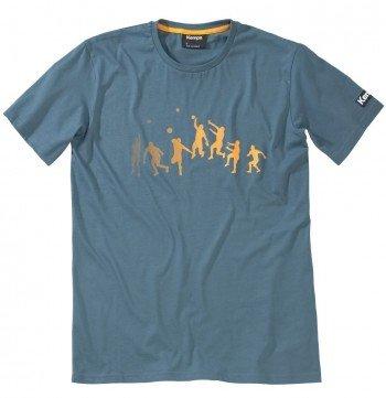 Kempa Bekleidung Freizeit Trick T-Shirt, Petrol/Orange, S