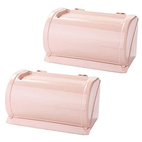 AERVEAL Soporte de Papel Servilletero Caja de Pañuelos Caja de Pañuelos Faciales Soporte de Cubierta para Encimeras de Tocador de Baño Rosa