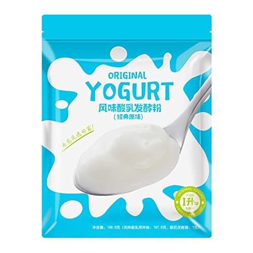 Vecksoy Cultivos De Iniciación De Yogur: Sobres Liofilizados para Yogur Natural, 5 Tipos De Probióticos, Polvo De Probióticos para Yogur Casero