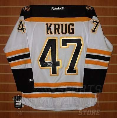 Torey Krug Boston Bruins Signed Autographed Away Jersey