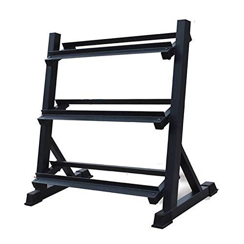 Dumbell Soporte Peso Mancuernas Rack Comercial Hexagonal Ajustable con Mancuernas Estante de exhibición (Pesas excluido) (Color : Black, Size : 97 * 51 * 88cm)