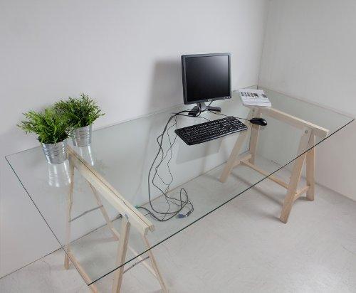 glasplaat bureau ikea