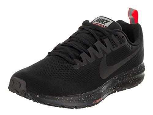 Nike Women's Air Zoom Structure 21 Shield Running Shoe Black/Black-Black-Obsidian 11.0