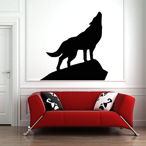 yaonuli Etiqueta de la Pared decoración Lobo Llamada Mural