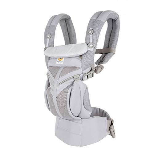 Ergobaby Omni 360 All-Position Baby Carrier for Newborn to Toddler with Lumbar Support and Cool Air Mesh (7-45 Pounds), Grey Diamond