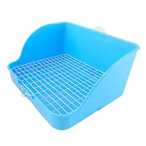 Azul Caja de Arena de Jaula de Conejo de Gran tama/ño con caj/ón extra/íble para Conejo de Animal L Baffect Bandeja de Basura de Conejo de Esquina Casa de Inodoro de Esquina