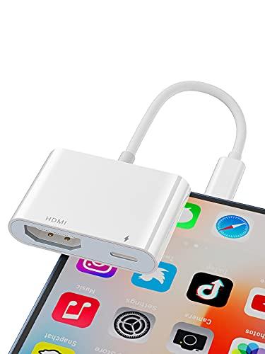 Cable HDMI para iPhone, 1080P Lightning Digital AV Adaptador Video & Audio Sync Screen Convertidor Compatible con todos los dispositivos iOS