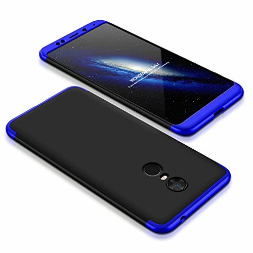 DESCHE compatibles con funda Xiaomi Redmi 5 Plus Azul Negro, PC duro Cubierta protectora Ultrafino Anti-rasguños Parachoque Mate Phone Case - Azul Negro