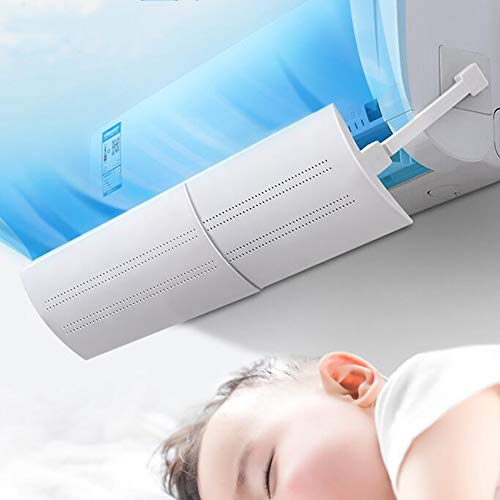 Cmboom Deflettore Regolabile per climatizzatore Parabrezza Aria condizionata Scudo del condizionatore Freddo Calda, per casa Ufficio,Anziani, Neonati, Donne in Gravidanza - Bianco