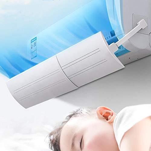 Cmboom Deflettore Regolabile per climatizzatore Parabrezza Aria condizionata Scudo del condizionatore Freddo/Calda, per casa/Ufficio,Anziani, Neonati, Donne in Gravidanza - Bianco
