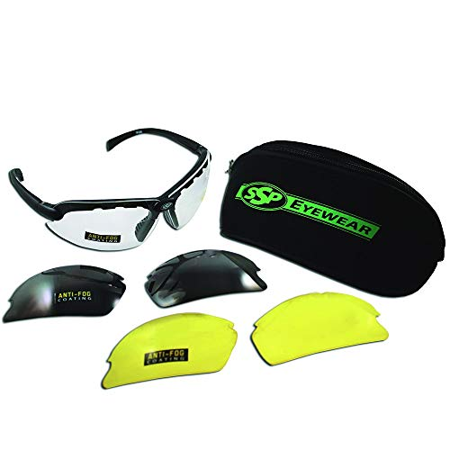SSP Eyewear Top Focal Tactical Safety Glasses Kit with Assorted Interchangeable 1.75 Bifocal Lenses, TF175 AMZ KIT