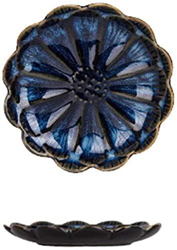 Cuenco de cerámica 5 horno japonés The Glaze Pattern Vajilla Sauce Plato de cerámica para el hogar (Color: B)