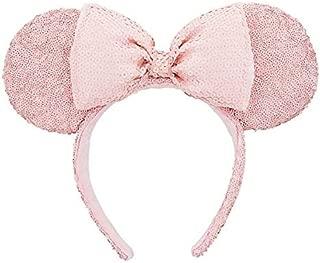 Disneyland Paris Minnie Mouse Pink Sequined Ear Headband