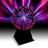 Bola de plasma de 20 cm – Fantástico efecto de luz retro / rayos mágicos en bola de plasma