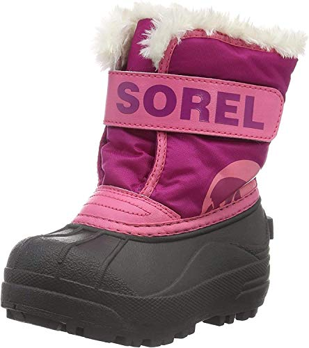 Sorel Toddler Snow Commander Boot for Rain and Snow - Waterproof - Tropic Pink - Size 4