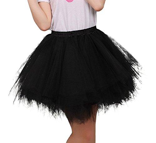 FEOYA Mujer Adultos Falda de Ballet Skirt Princesas Tut de Tul para Baile Disfraces Fotografa Fiesta Despedida de Soltera Talla nica - Negro
