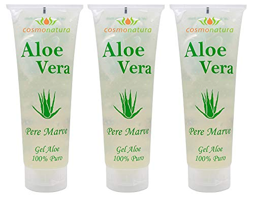 IB Cosmetics 40140 - Gel aloe vera 100%, 250 ml x 3 unidades
