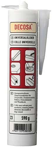 DECOSA Universalkleber, weiß, 1 Kartusche à 590 g