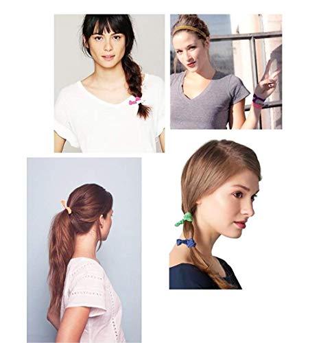 Shuny 50 pcs Bande de cheveux,Tissu élastique,Ruban élastique cheveux liens groupes de détenteurs de queue de cheval,cheveux accessoires pour les filles de 4 à 12 ans et plus Joli