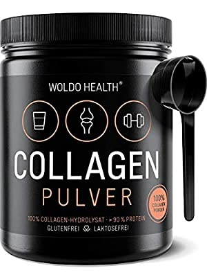 WoldoHealth I 100% Collagen Protein I Unflavoured Powder I Hydrolysate grom Pure Bovine I for Healthy Skin Hair Nails Supplement I Resealable from WoldoHealth