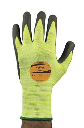 Ansell HyFlex 11-423 Schnittschutz-Handschuhe, Mechanikschutz, Grau, Größe 10 (12 Paar pro Beutel)