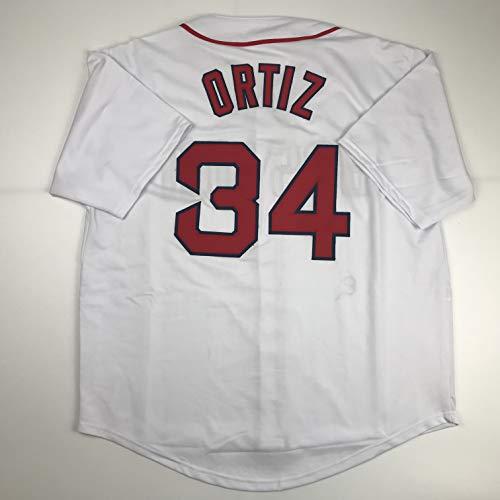 Unsigned David Ortiz Boston White Custom Stitched Baseball Jersey Size Men's XL New No Brands/Logos