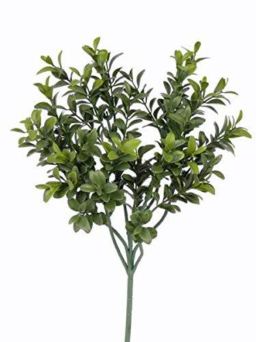 artplants.de Künstlicher Buchszweig Tom, grün, schwer entflammbar, 45cm - Künstlicher Buchs - Buchspflanze