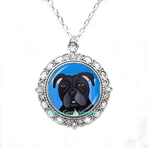 Collar para perro Pit Bull American Pitbull Terrier Pet Puppy Rescue Colgante Bulldog Joyería para amantes de los animales, Q0222