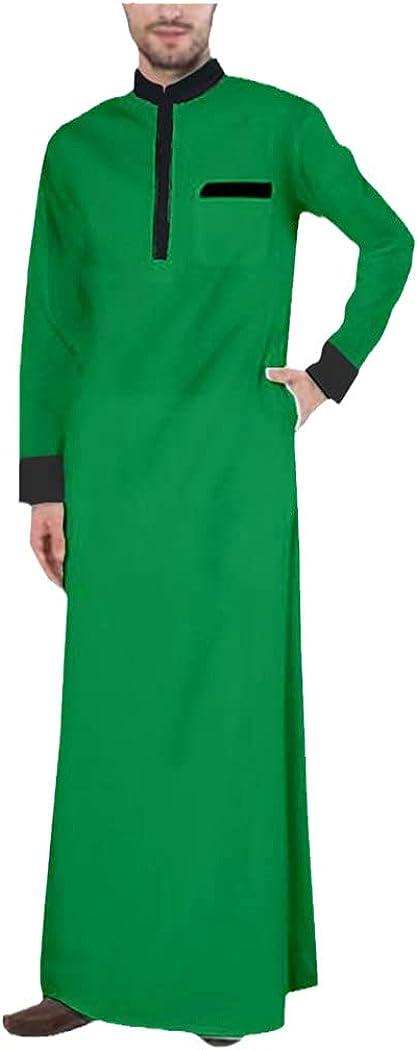Men Muslim Fashion Jubba Thobe, Long Sleeves Islamic Clothing, Muslim Simple Robe, Loose Casual Jubba Thobe