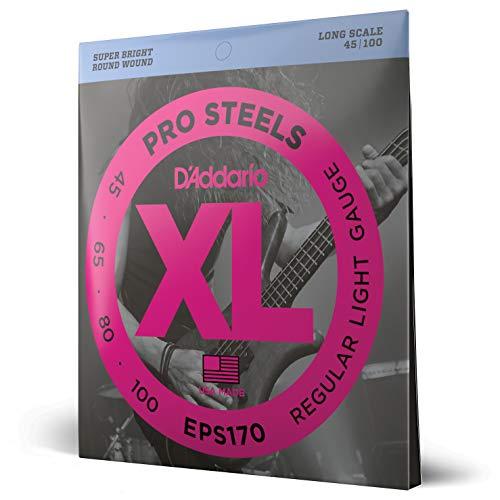 D'Addario EPS170 - Juego de cuerdas para bajo eléctrico de acero.045 - .100