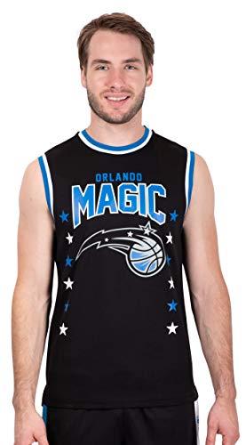 Ultra Game NBA Orlando Magic Mens Jersey Sleeveless Muscle T-Shirt, Black, Medium