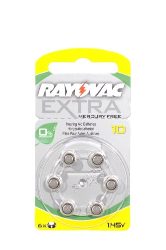 Rayovac Extra Mercury Free Hearing Aid Batteries Size 10 x 60
