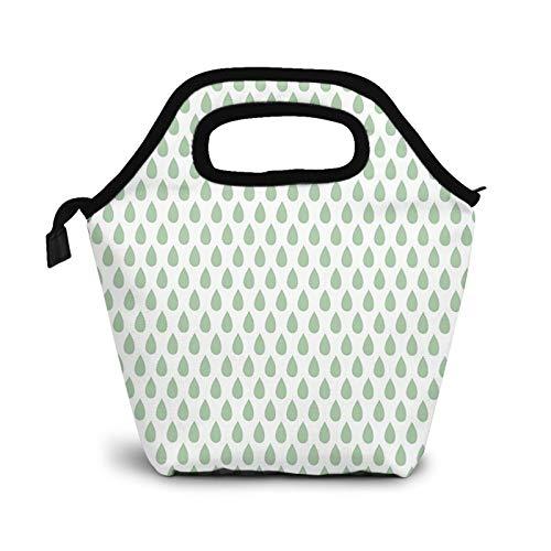 Bolsa Térmica Comida Bolsas De Almuerzo para Mujeres Hombres Niñas Niños Bolsa Isotérmica De Almuerzo Gotas de lluvia Gota de lágrimas
